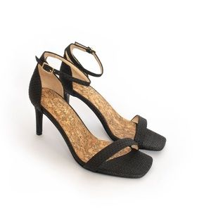 Sydney Brown raffia heels